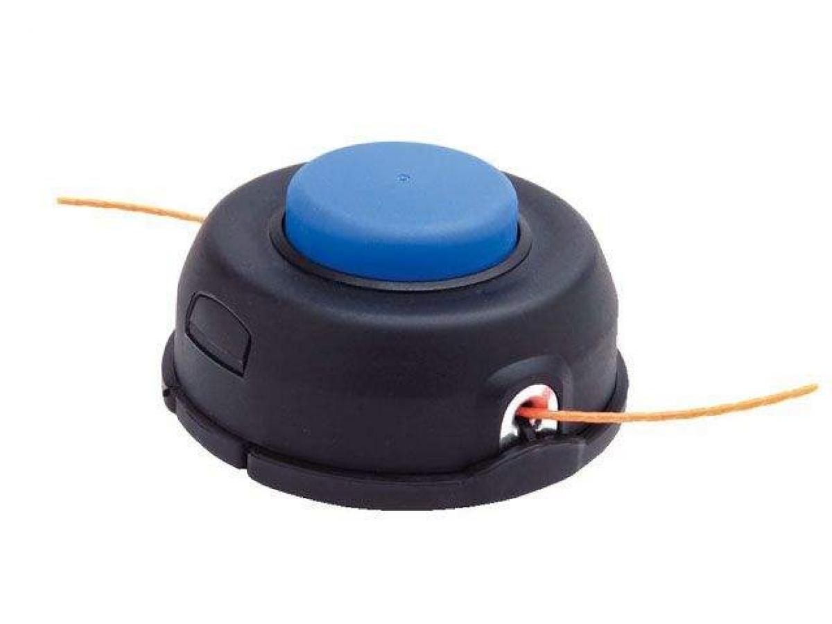 Барабан лески (чёрный) с синей кнопкой,d= 114мм (большой) + переходные адаптеры под разные модели и марки